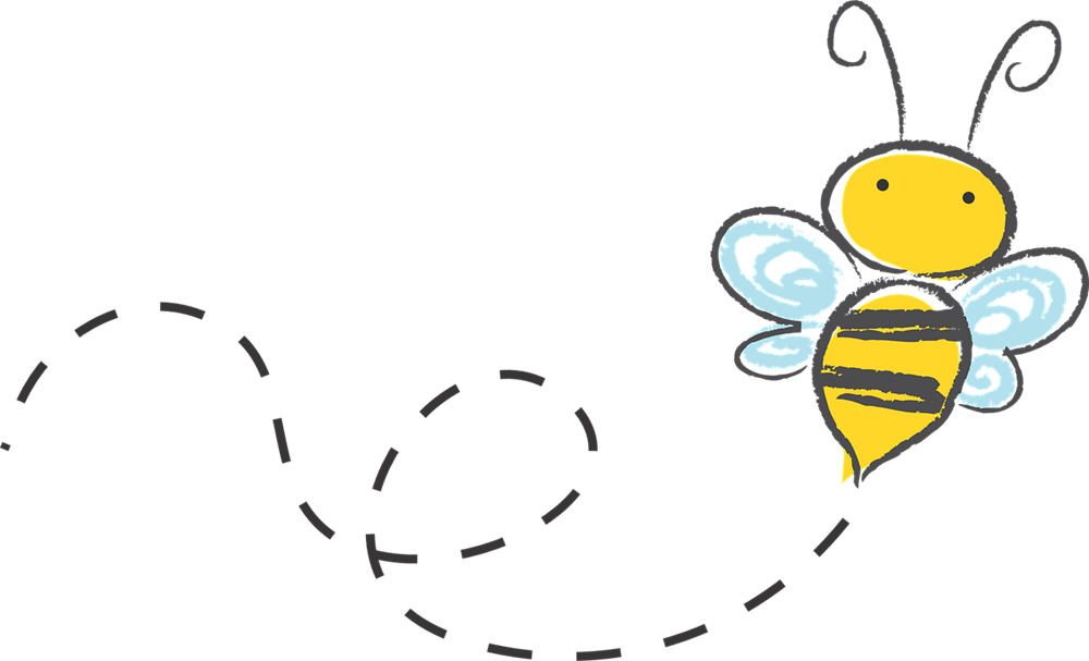 1000x607 Bee Flying Clipart