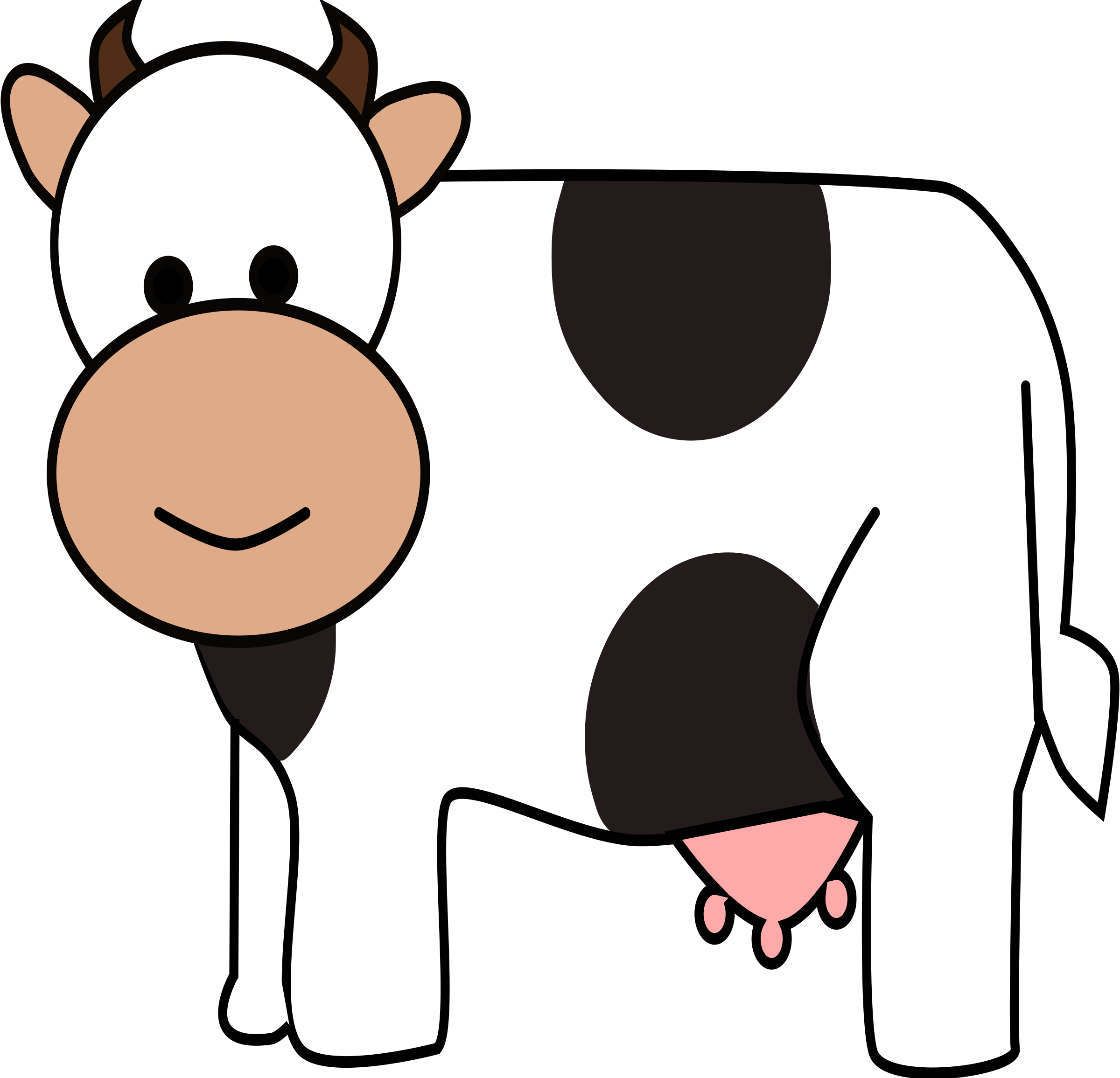 2400x2311 Cow Clipart Happy Cow