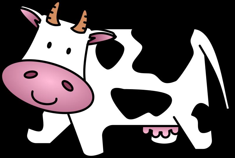 800x537 Free Cute Amp Friendly Cartoon Cow Clip Art