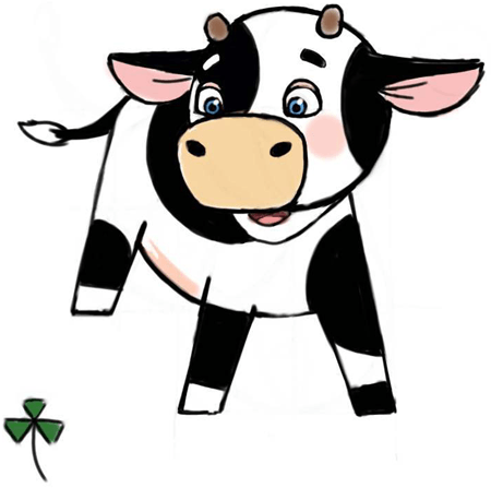 450x447 How To Draw Cute Cartoon Baby Cows With Step By Step Drawing