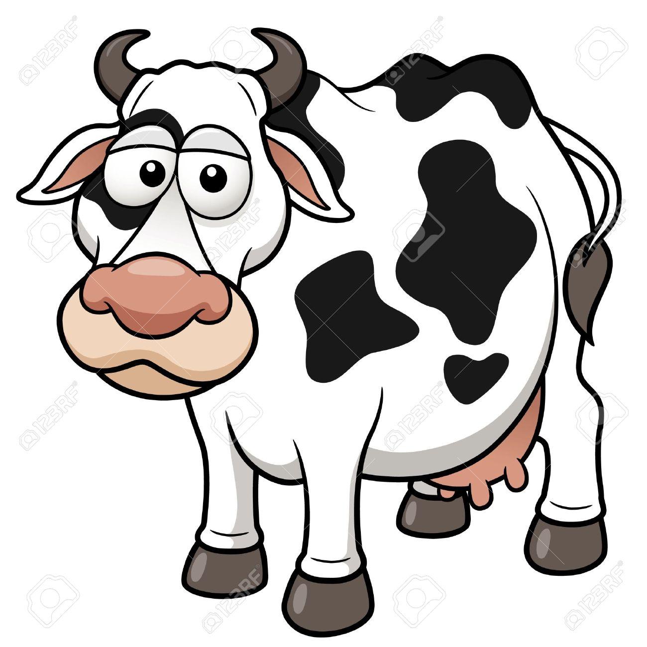 1300x1300 Vector Illustration Of Cow Cartoon Royalty Free Cliparts, Vectors