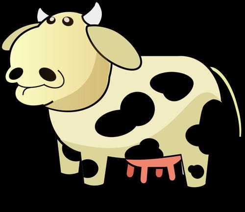 500x433 Vector Image Of Chunky Cartoon Cow Public Domain Vectors