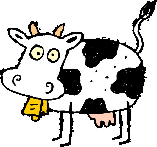 600x562 Cartoon Cow Clip Art