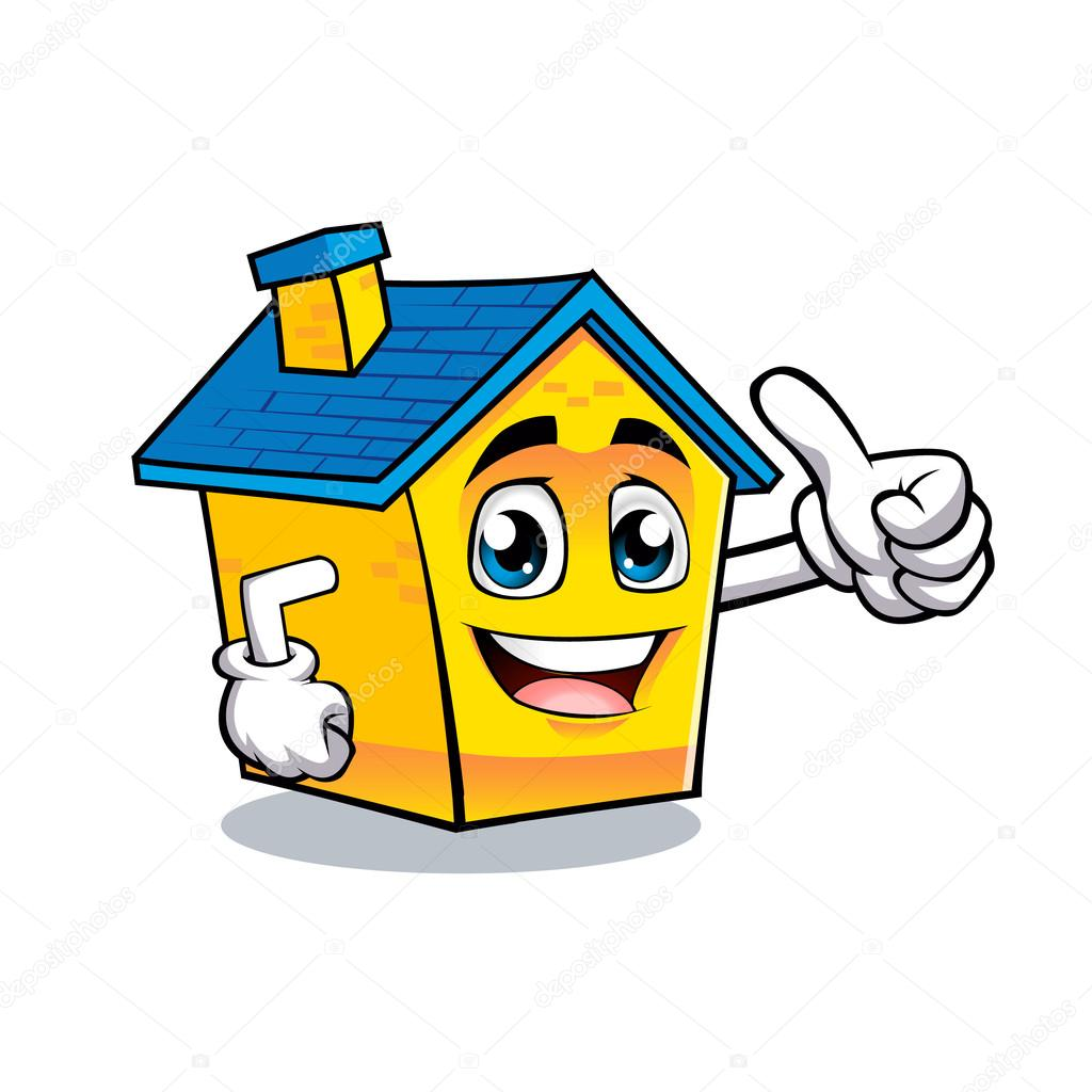 1024x1024 Cartoon House Positive Hand Stock Vector Milesthone