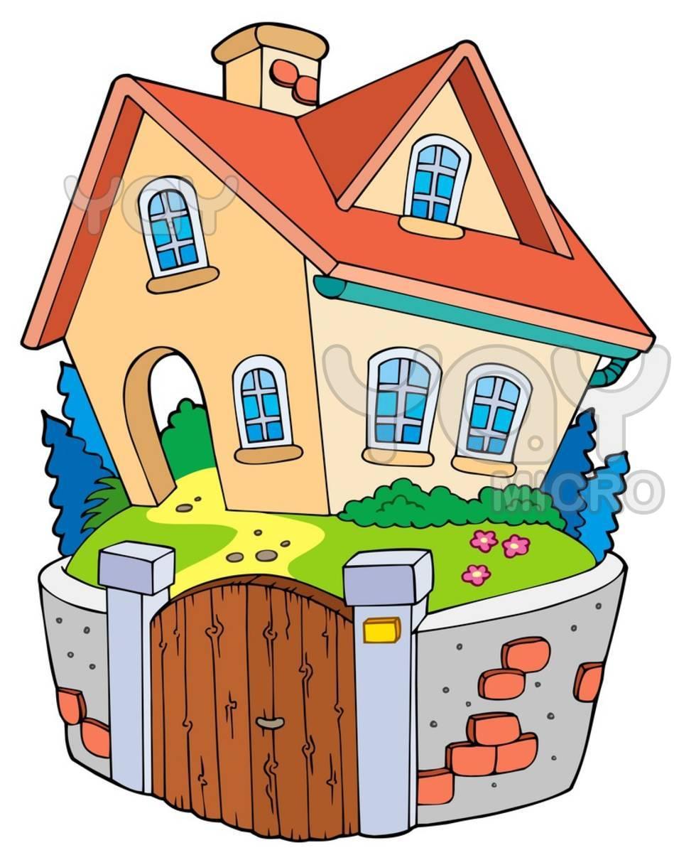 949x1210 Cartoon Of House
