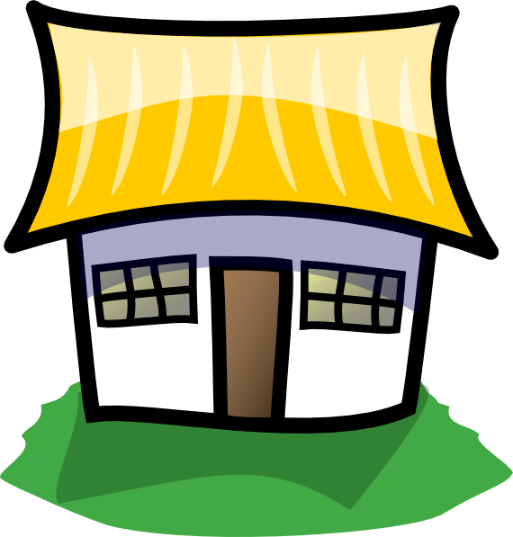 570x597 Clip Art 9 Cartoon House Image