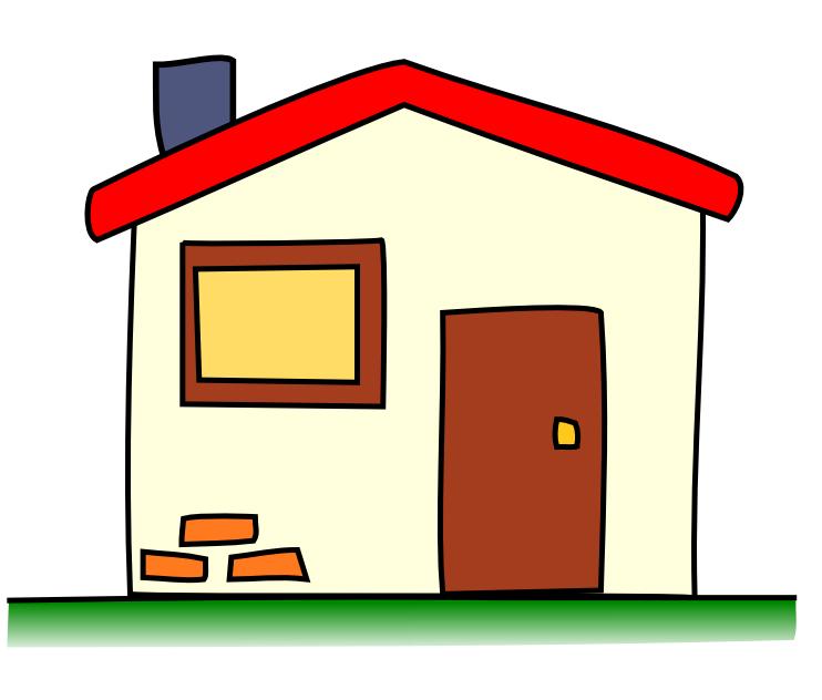 742x632 Cute House Cartoon Clipart Panda