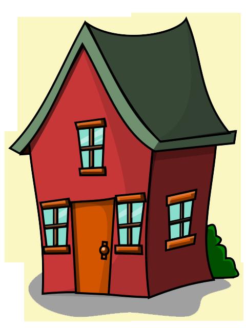 480x640 Free Cartoon House Clip Art