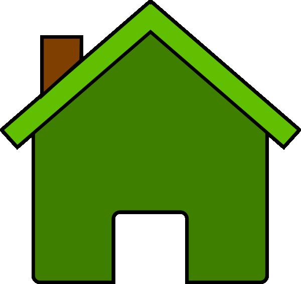 600x565 Green House Clip Art