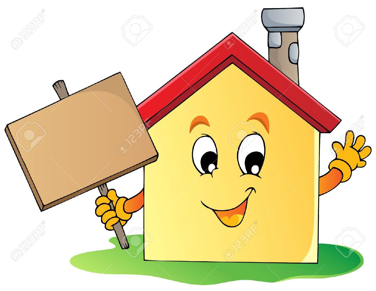 1300x1009 Happy House Clipart