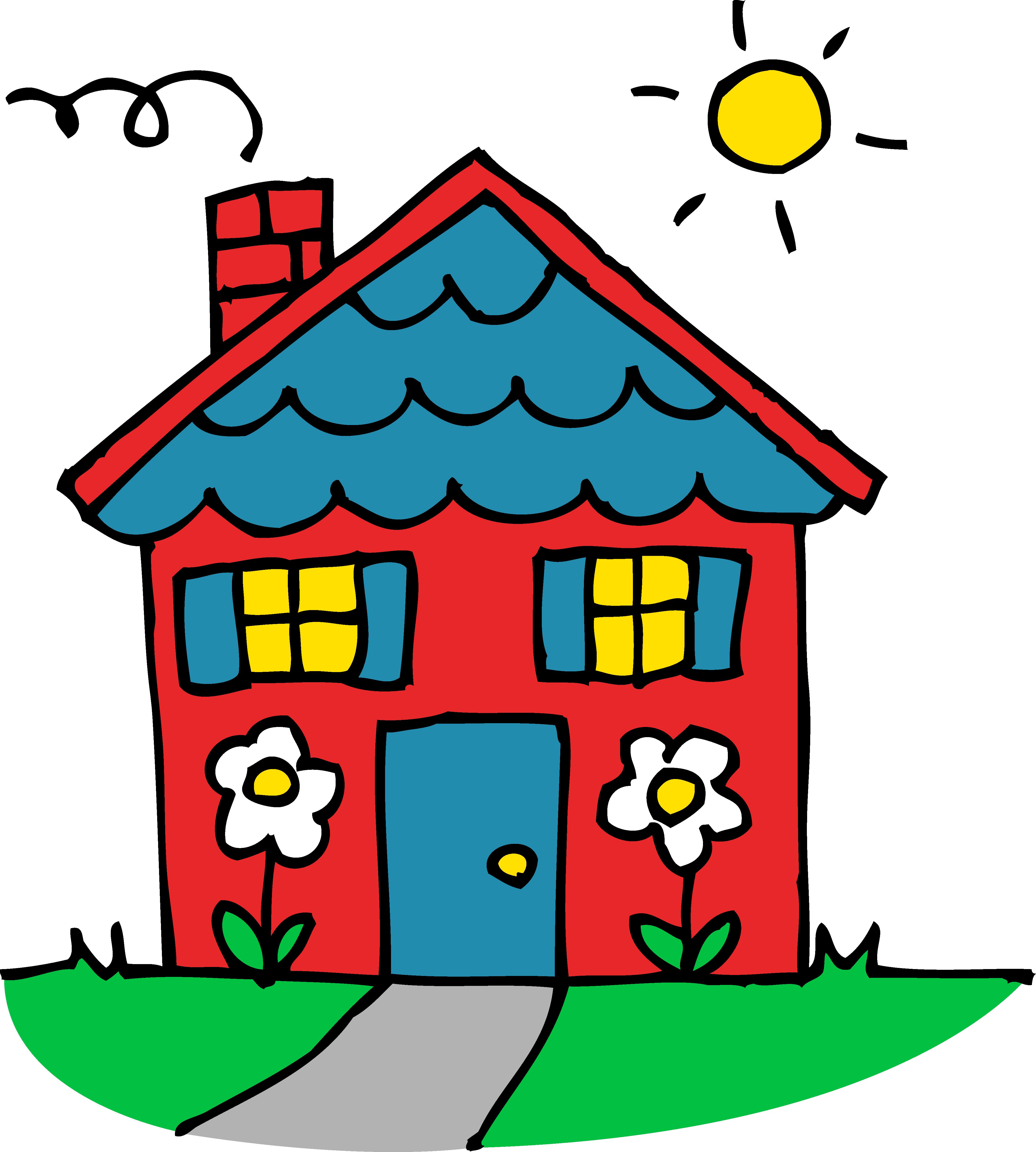 4377x4868 House Clip Art Free Cartoon Clipart Images