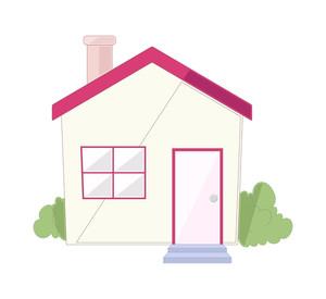 300x275 Retro Cartoon House Vector Background Royalty Free Stock Image