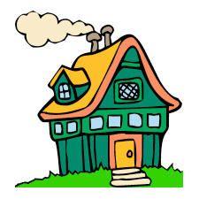225x225 The Best Cartoon House Ideas House Drawing