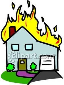 225x300 Burning House Clipart