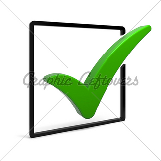 325x325 Red Check Mark Gl Stock Images
