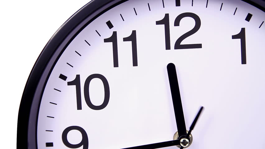 852x480 Footage Of A Clock And Its Second Hand Passing By Stock Footage