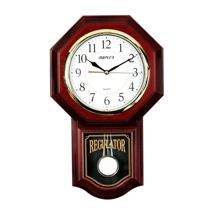 900x900 Shop Maple's Pendulum Analog Round Indoor Wall Clock