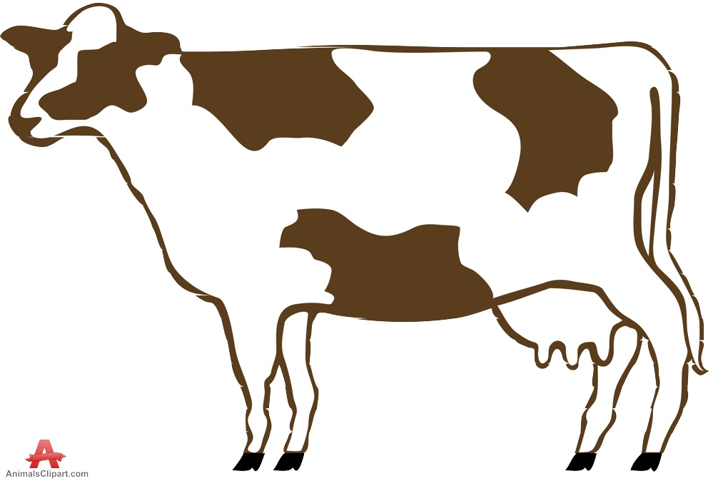 999x674 Cow Clipart With Large Udder Free Clipart Design Download