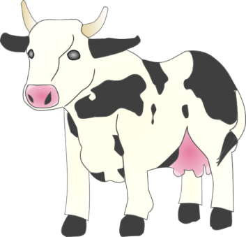 353x339 Cow Clipart Printable