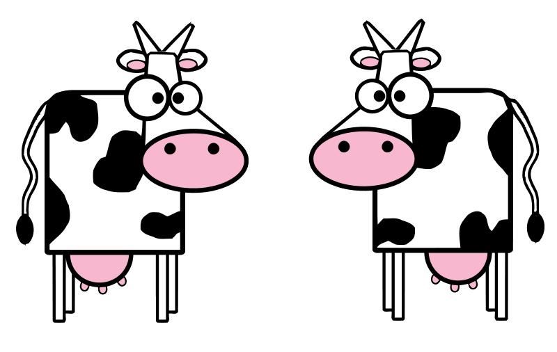 800x506 Cute Cow Clipart