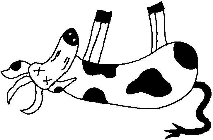 727x479 Dead Cow Clipart