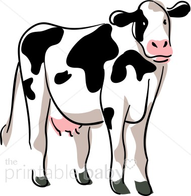 379x388 Stylized Cow Clipart Barnyard Clipart