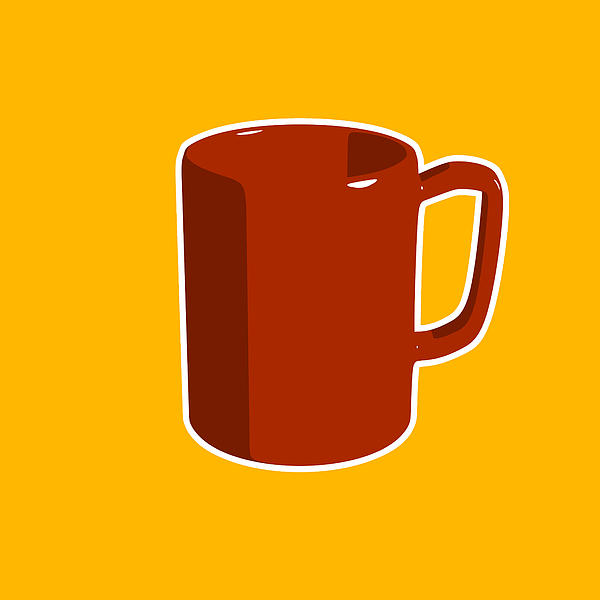 600x600 Cup Of Coffee Graphic Image Digital Art By Pixel Chimp