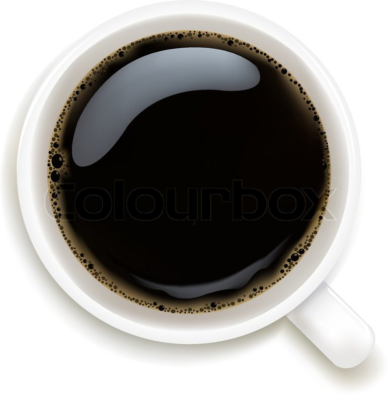 771x800 Cup Of Coffee Isolated On White Background, Vector Illustration