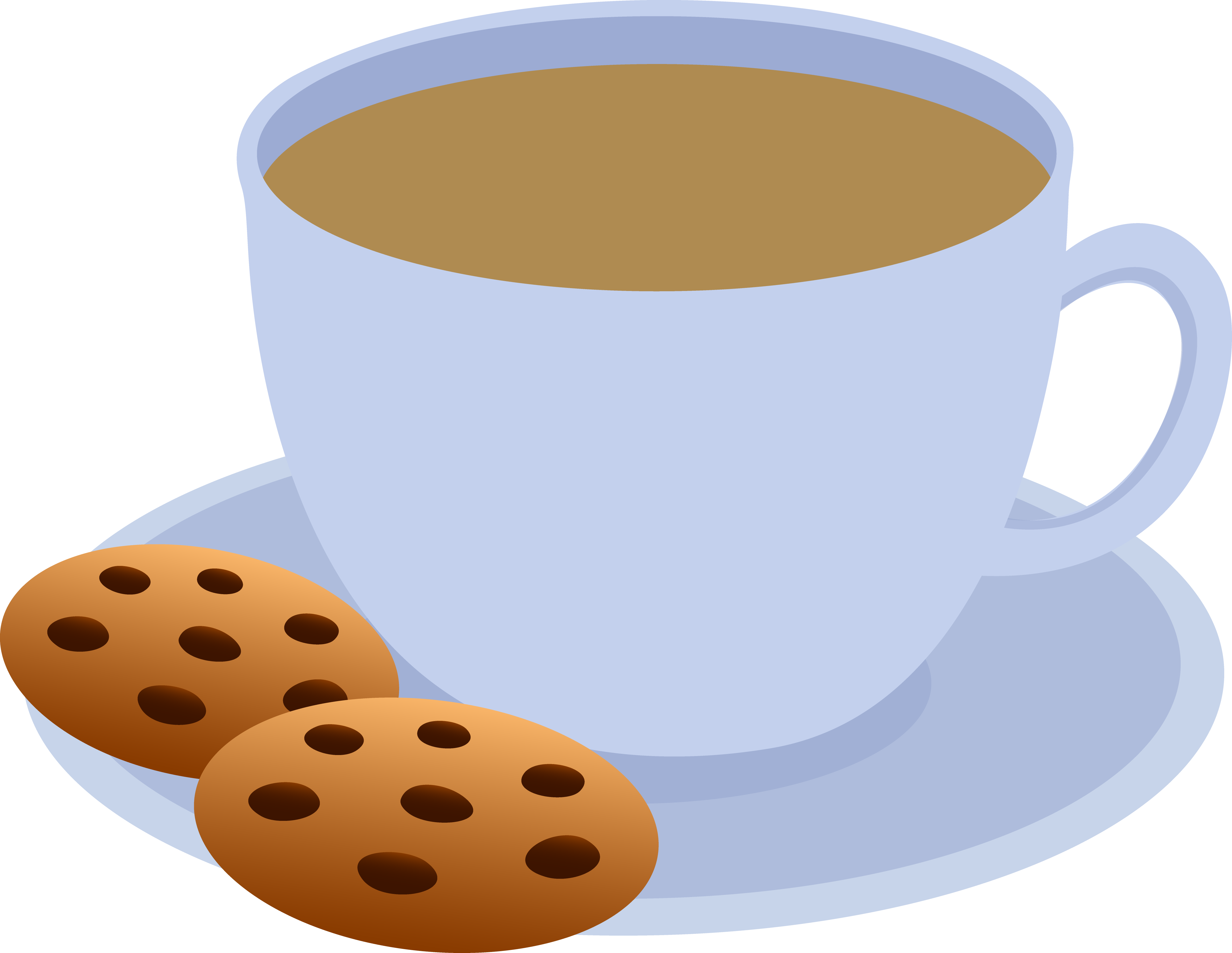 4753x3678 Cup Of Coffee And Chocolate Chip Cookies