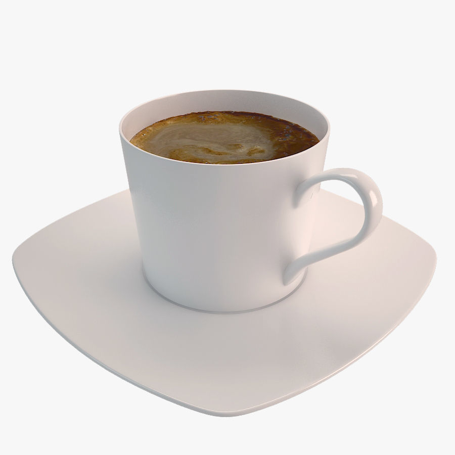 900x900 Cup Of Coffee Latte 3d Model Cgtrader