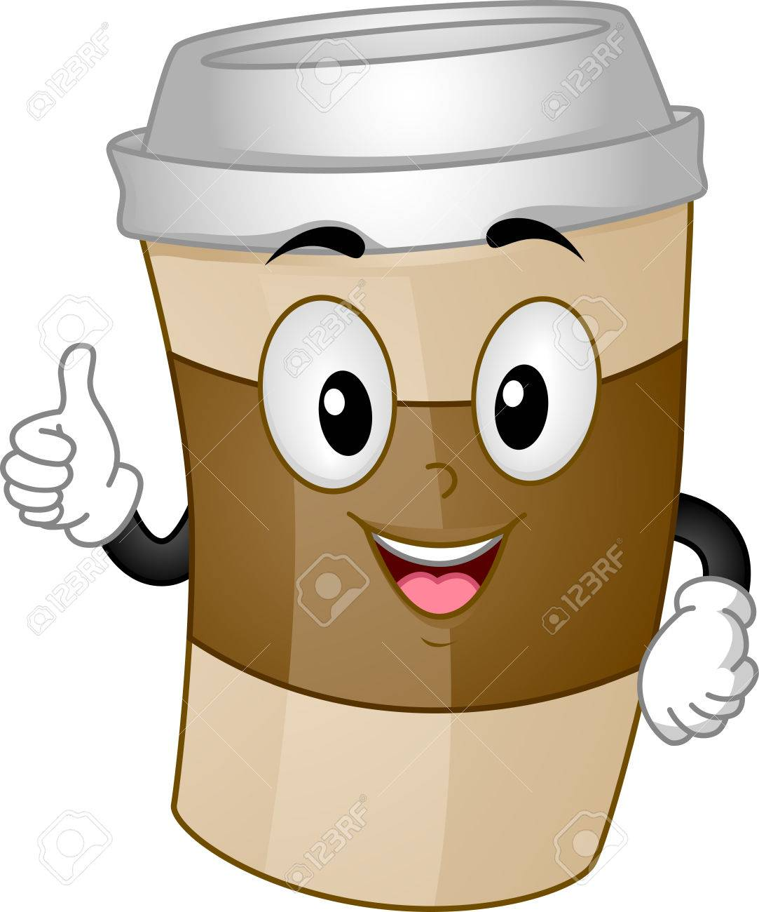 1083x1300 Mascot Illustration Of Cup Of Coffee For Take Out Giving