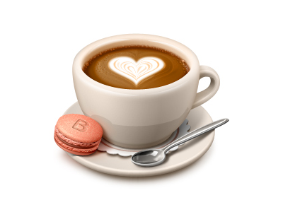 400x300 Valentine's Day Coffee Icons, Coffee And Cups