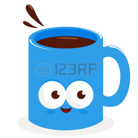 450x450 Cartoon Cup Of Coffee Royalty Free Cliparts, Vectors, And Stock