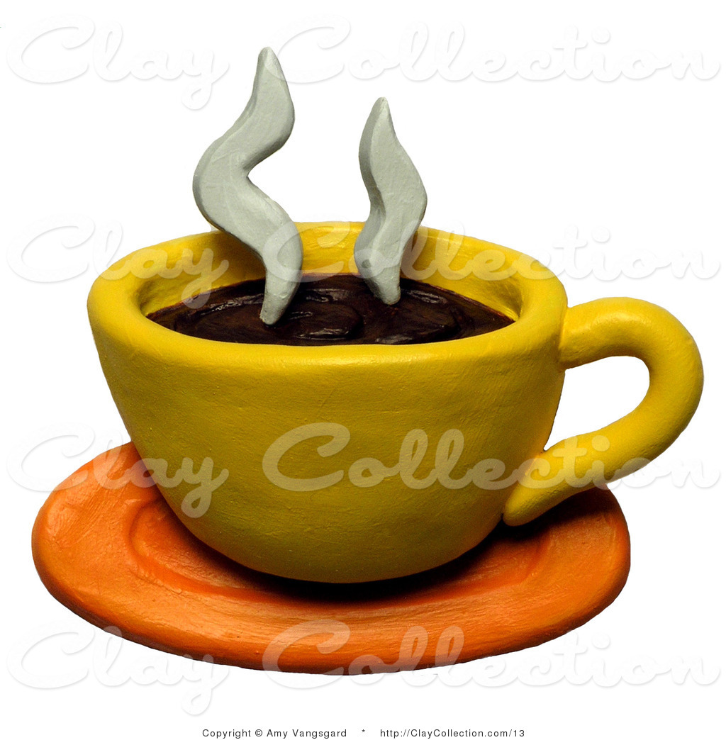 1024x1044 Clay Illustration Of A Hot Cup Of Coffee On A Saucer By Amy