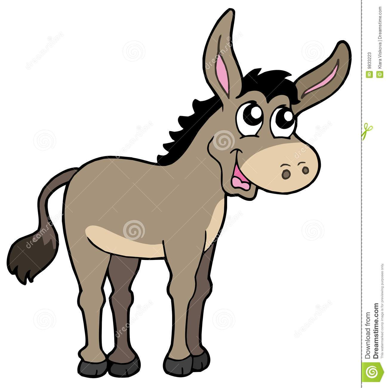 1300x1300 Clipart Of A Donkey