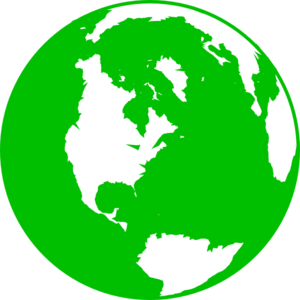 300x300 Dark Green Globe Clip Art