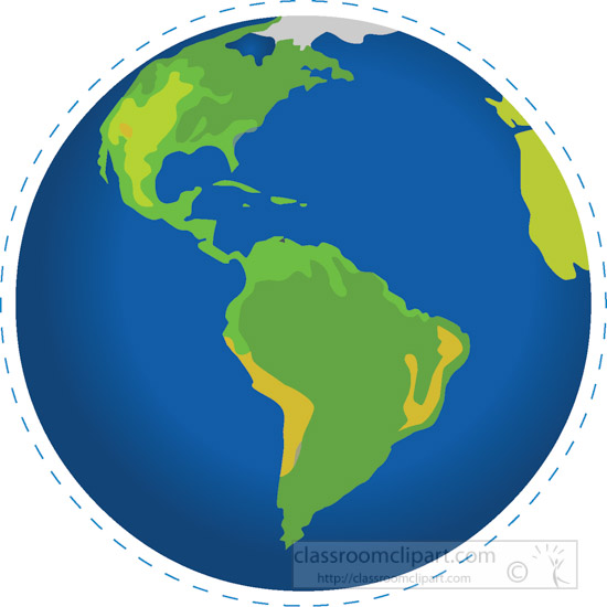 550x550 Geography Clipart Earth Globe South America North America Clipart