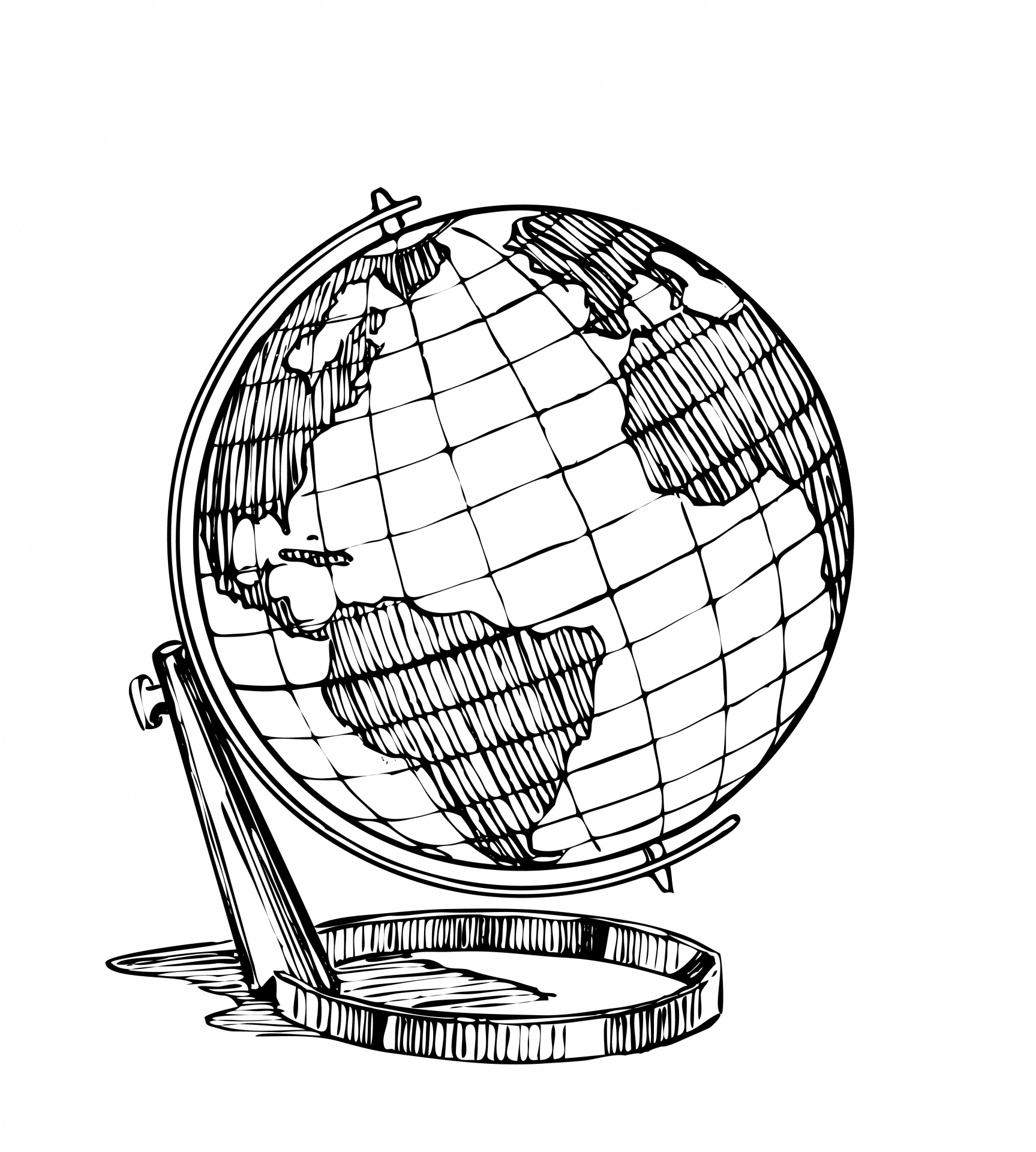 1727x1920 Globe Clipart Illustration Free Stock Photo