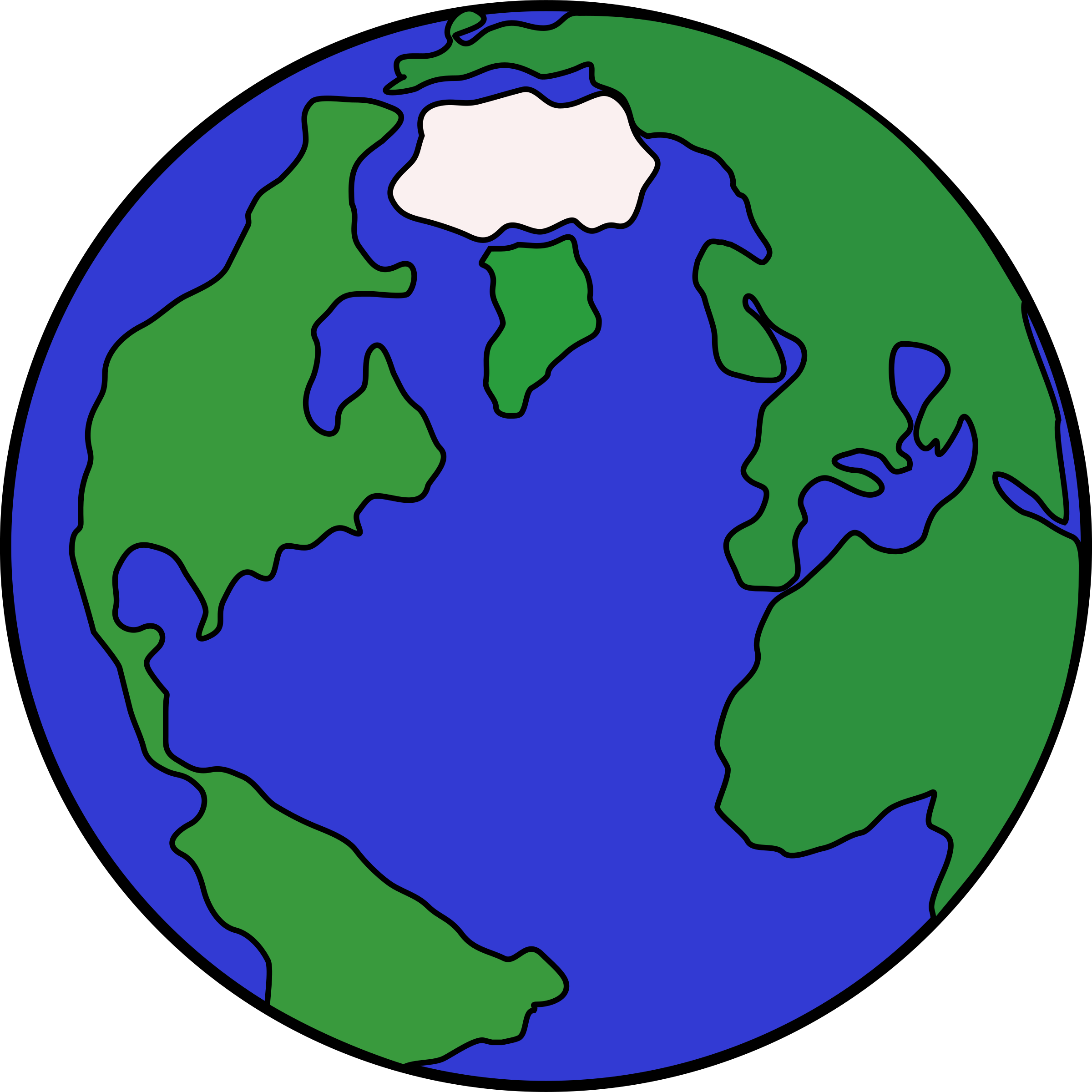 2400x2400 Globe Clipart Colored