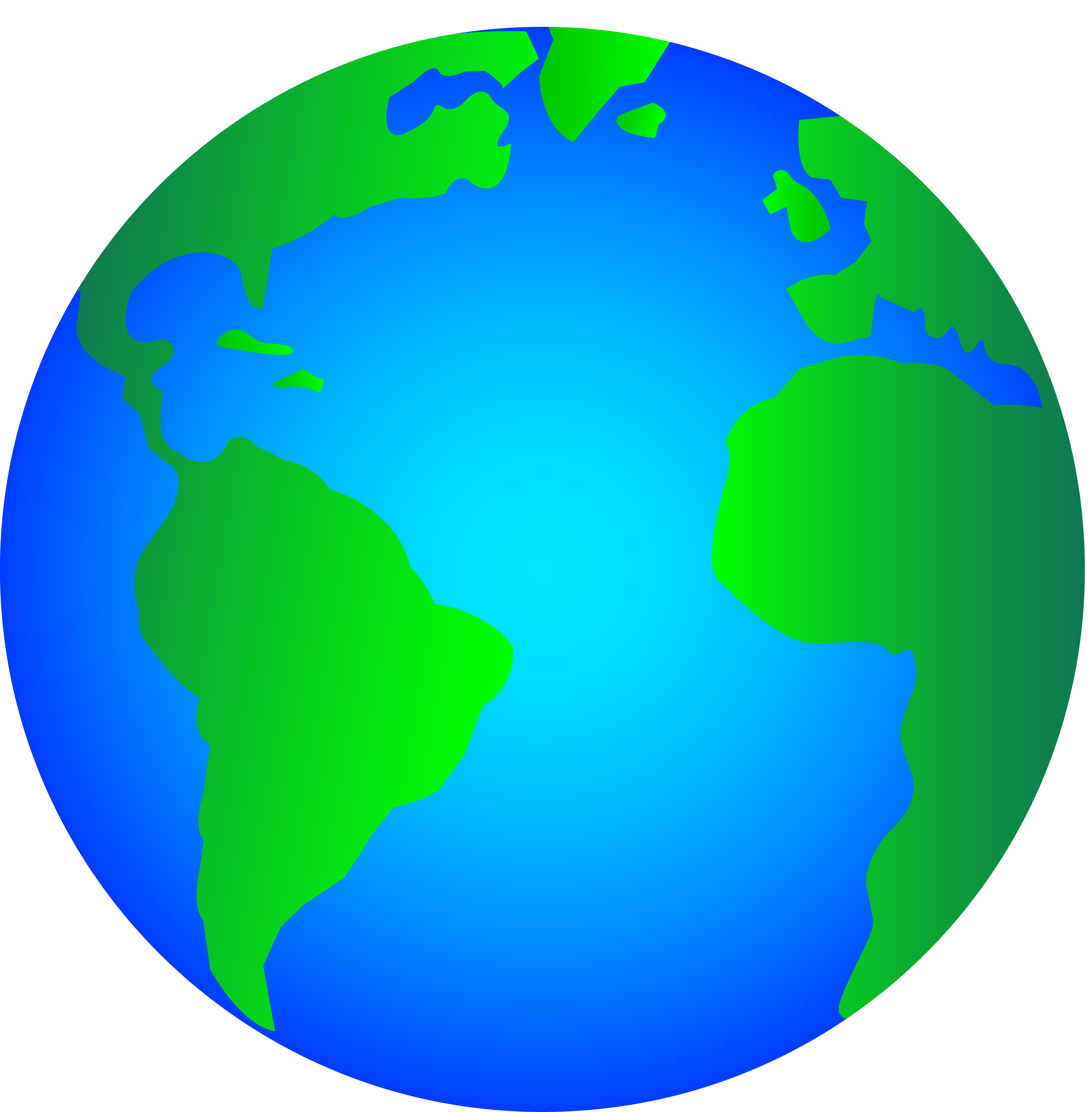 5748x5852 World Globe Clipart