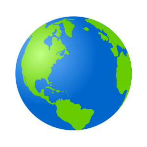 300x300 World Globe Clipart