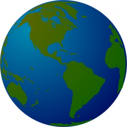 425x425 World Globe Clipart