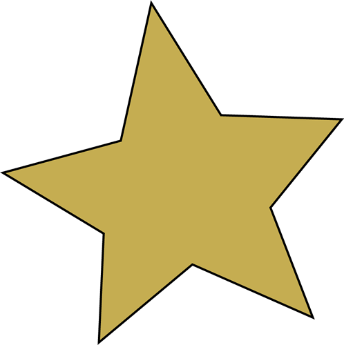 498x500 Gold Star Clip Art