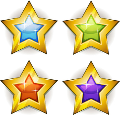 385x368 Gold Star Badge Free Vector Download (7,569 Free Vector)