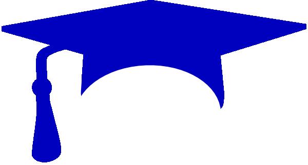 600x322 Royal Blue Graduation Cap Clip Art
