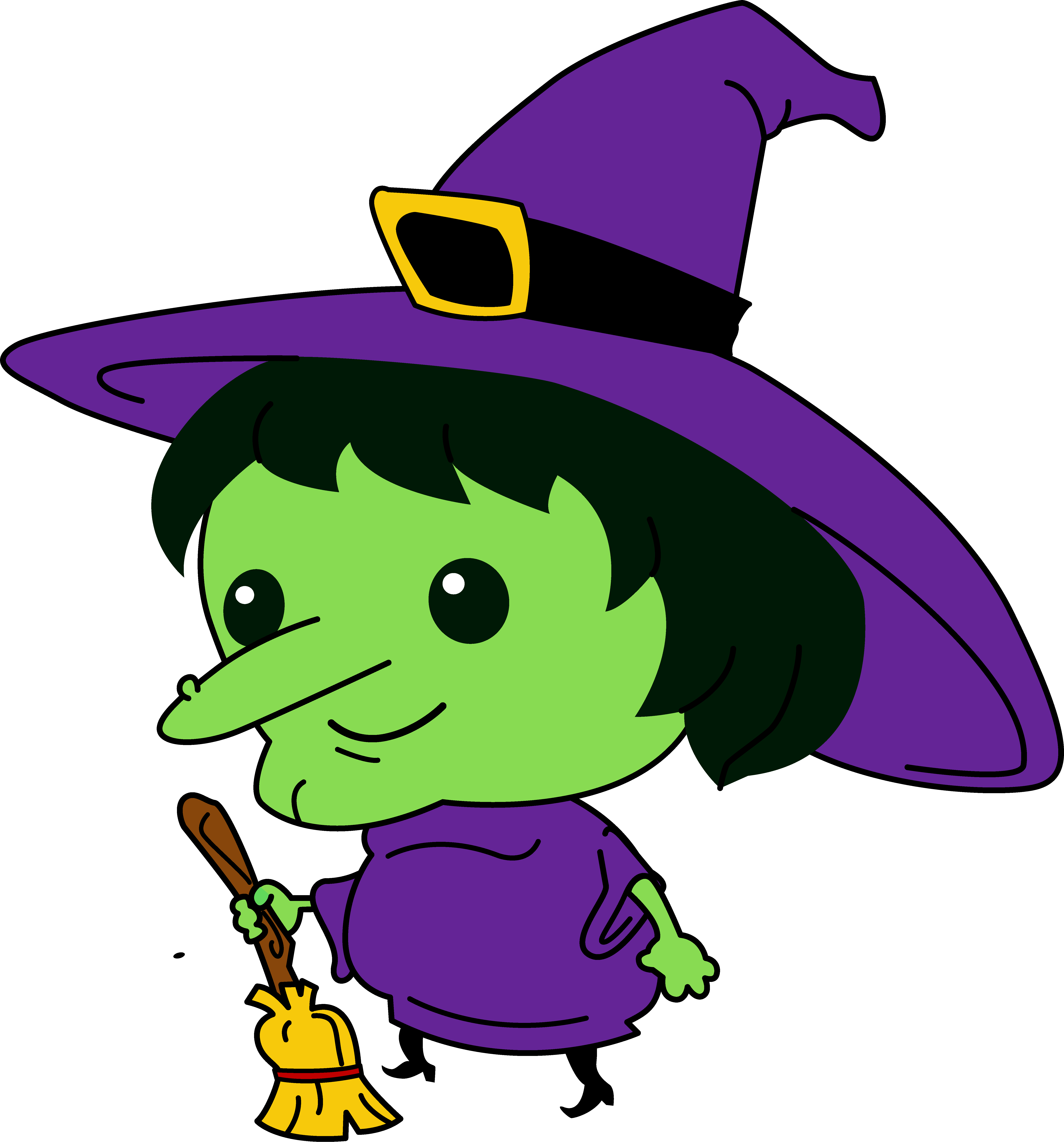 6085x6528 Halloween Witch Face Clipart
