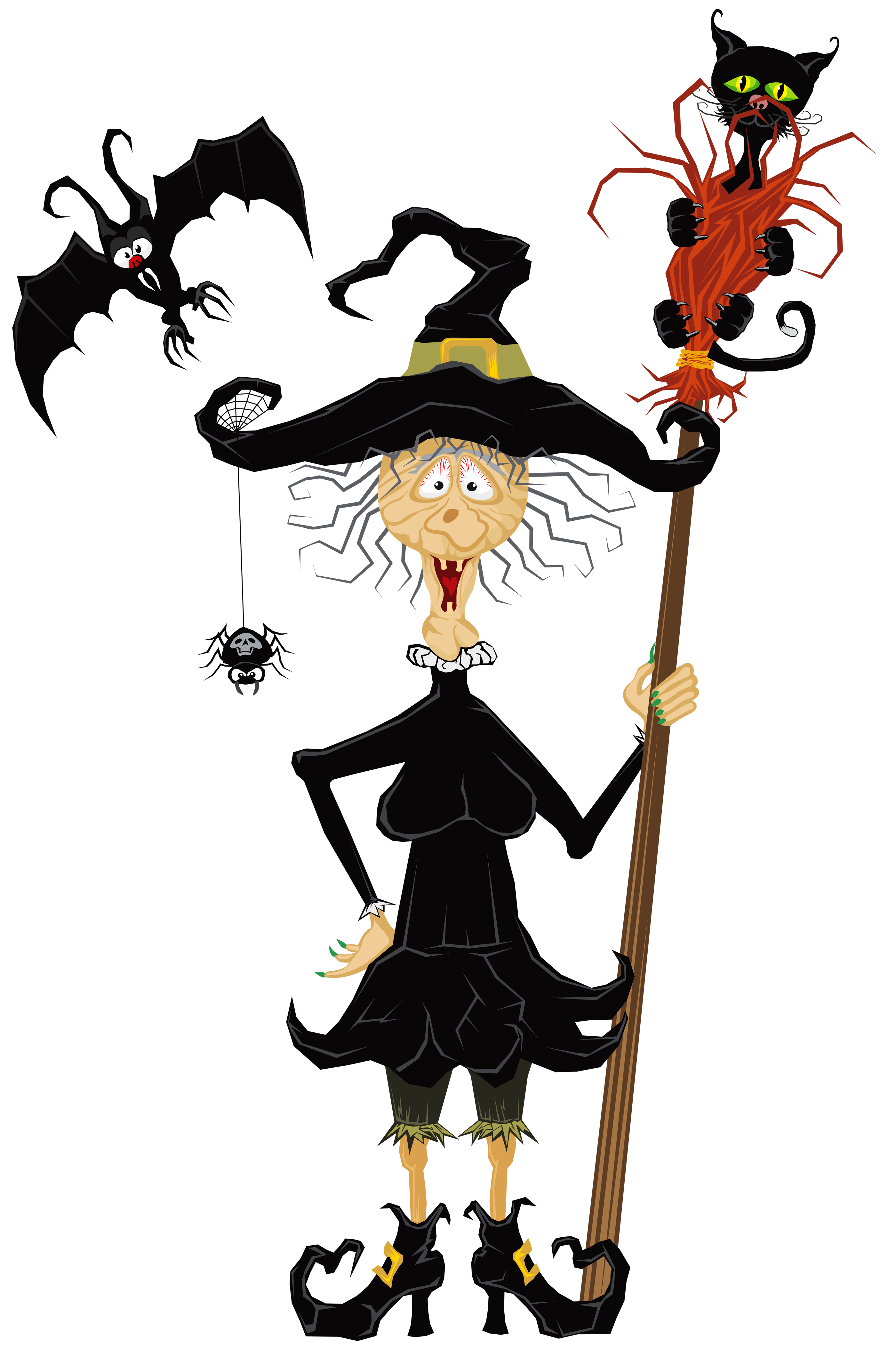 2800x4215 Halloween Creepy Witch Clipart