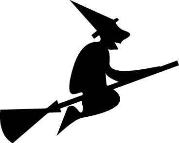 368x295 Halloween Witch Silhouette Clipart Kid