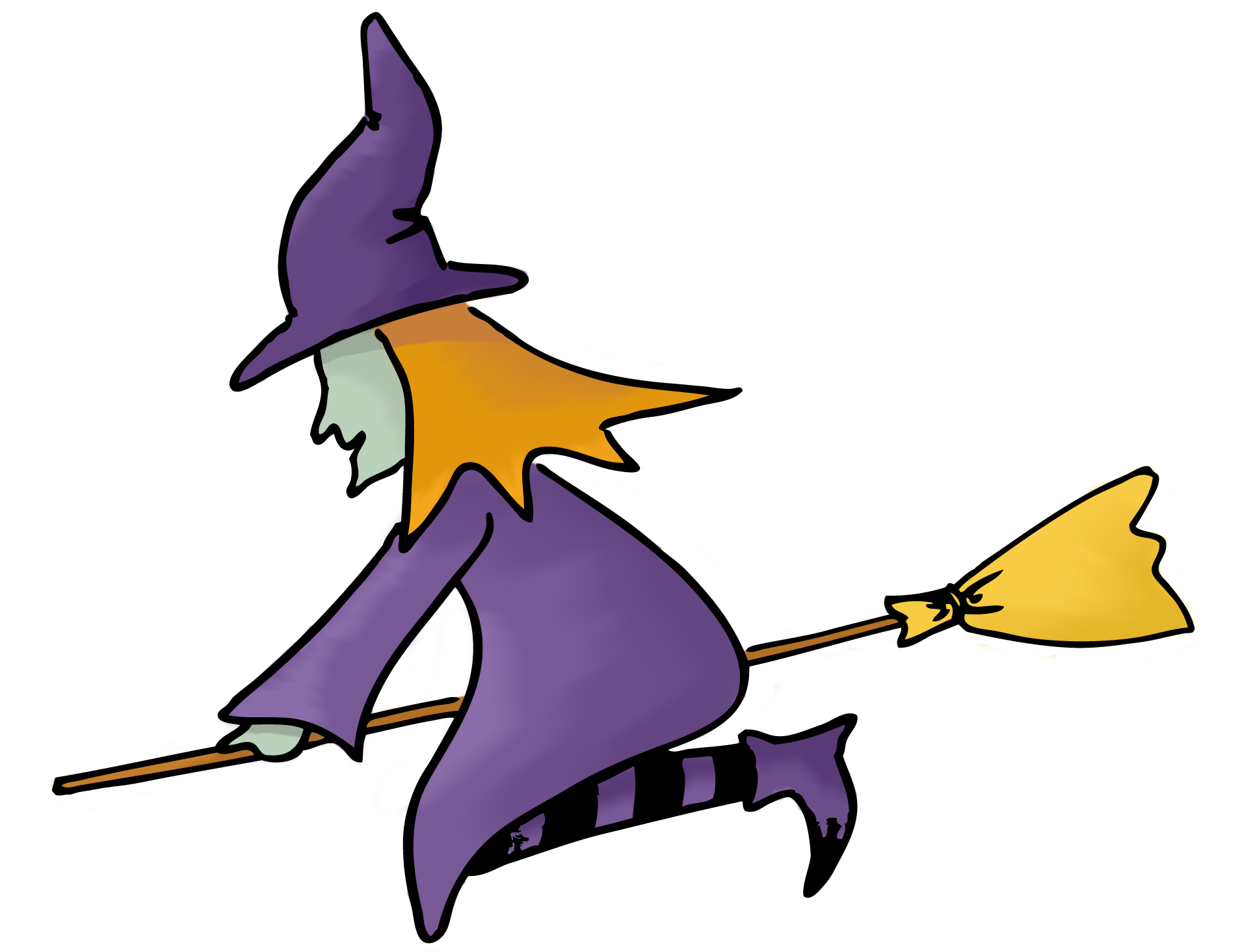1907x1464 Cute Halloween Witch Clipart