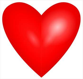 350x331 Heart Images Free Bright Red Heart Clipart Graphics Images
